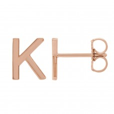 tiny POSH Initial Earring Stud