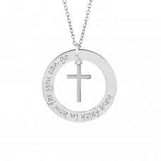 White Mantra WEE Loop with Cross Dangle