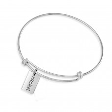 Expandable Bracelet with Mini Dog Tag