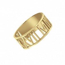 Yellow Date Ring Roman Numeral Jewelry