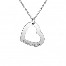 Small Heart Loop Personalized Mommy Jewelry