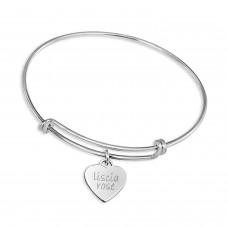 Silver Expandable Bracelet with Sweetheart