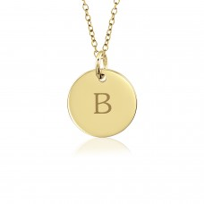 Tanner Vermeil Initial Disc Mommy Necklace Personalized Jewelry