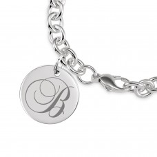 Tayler Initial Disc Bracelet Personalized Jewelry