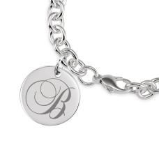 Tayler Initial Disc Bracelet Personalized Jewelry