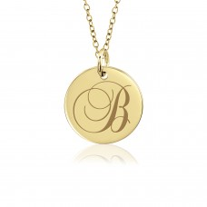 Tayler Vermeil Initial Disc Mommy Necklace Personalized Jewelry