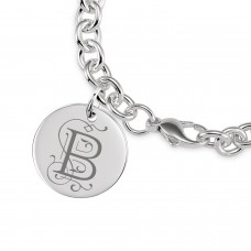 Vintage Initial Disc Bracelet Personalized Jewelry