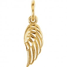 Yellow Angel Wing Charm Personalized Jewelry