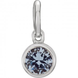 March Birthstone Necklace Charm