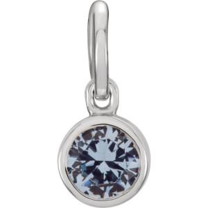 March Birthstone Necklace Charm