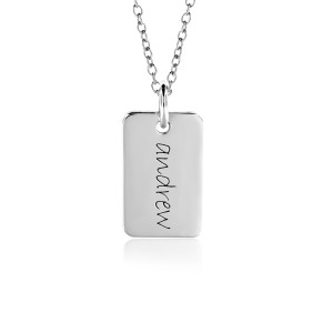 One Gold Mini Dog Tag Mommy Necklace Personalized Jewelry