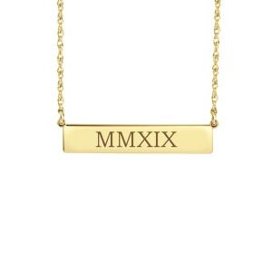 Roman Numeral POSH Bar Necklace