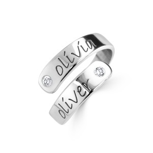 2 Diamonds Wrap Ring