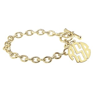 POSH Block Monogram Toggle Bracelet