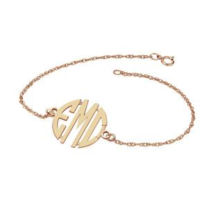 POSH Block Monogram Bracelet