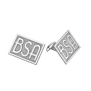 Silver Deco Monogram Cufflinks Personalized Mens Jewelry
