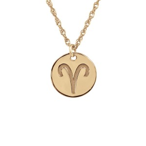 Rose POSH Zodiac Sign Necklace