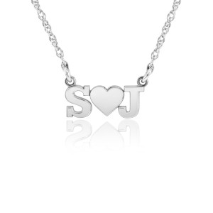 White POSH Initial LOVE Necklace