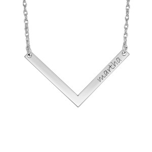 h Chevron Bar Personalized Jewelry
