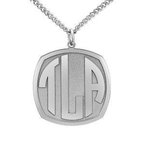 Silver Daddy Block Monogram