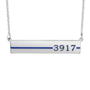 White Honor Bar Necklace Military Jewelry