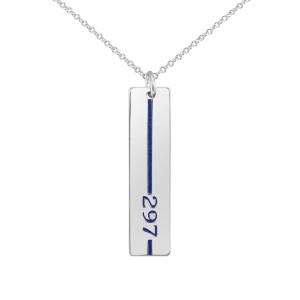 White Honor Tag Military Jewelry