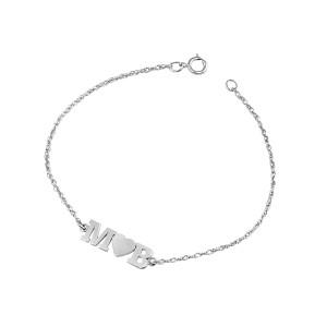 Silver Initial LOVE Bracelet
