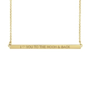 Yellow Mantra Brooklyn Bar Necklace Personalized Jewelry