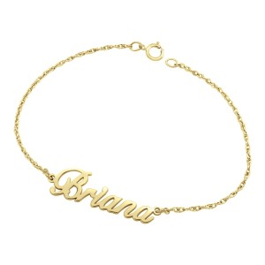 Yellow Briana Nameplate Bracelet