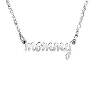 Silver Mommy Nameplate