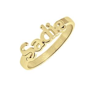 Tanner Nameplate Ring