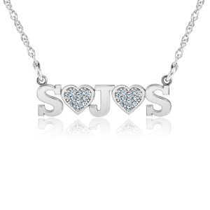 Diamond Initial LOVE Necklace