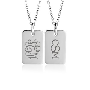 Monogram Mini Dog Tag