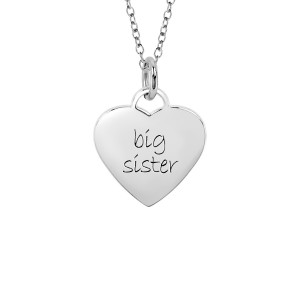 White Big Sister Sweetheart Necklace