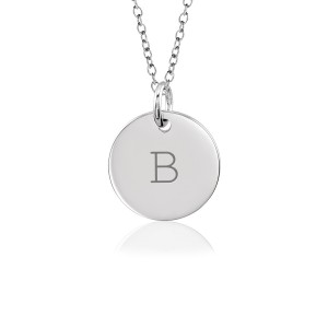 Block Initial Disc Mommy Necklace Personalized Jewelry