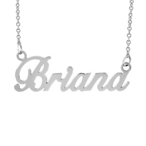 White Briana Name Necklace Personalized Jewelry