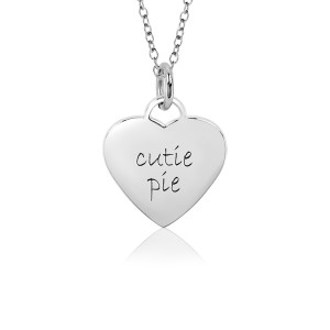 White Cutie Pie Sweetheart Necklace for Little Girls
