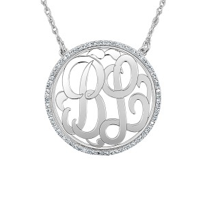 Gold Diamond Loop Monogram
