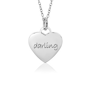 White Darling Sweet Heart Necklace for Girls