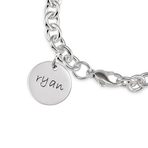 Disc Bracelet Personalized Jewelry