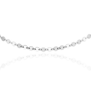 Sterling Silver Disc Choker