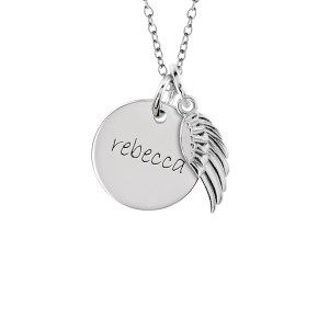 One Disc + Wing Charm | POSH Mommy Jewelry