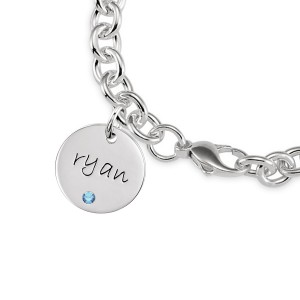 Birthstone Disc Bracelet Personalized Jewelry