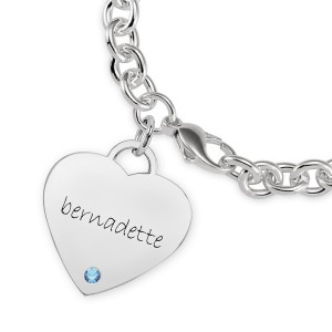 Eternal Heart Birthstone Bracelet Personalized Jewelry