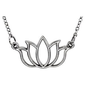 White tiny POSH Lotus Necklace