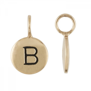tiny Bronze Initial Charms Personalized Jewelry