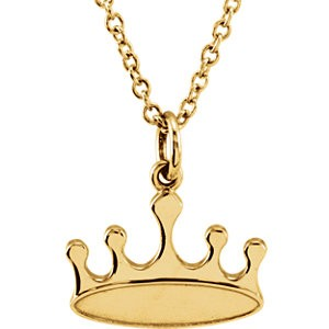 Yellow tiny POSH Crown Necklace