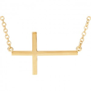 Yellow tiny POSH Cross Personalized Jewelry
