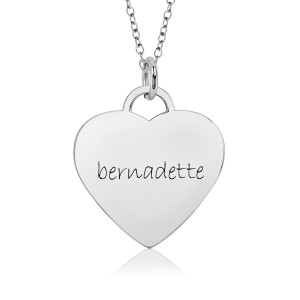 White Gold Eternal Heart Mommy Necklace