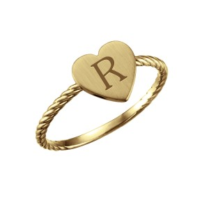bePOSH Stackable Heart Ring Rope Band